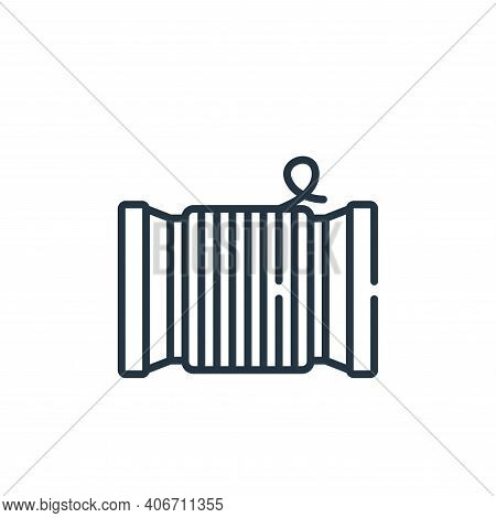thread icon isolated on white background from sewing collection. thread icon thin line outline linea