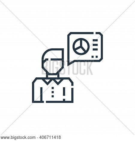 thinking icon isolated on white background from marketing collection. thinking icon thin line outlin
