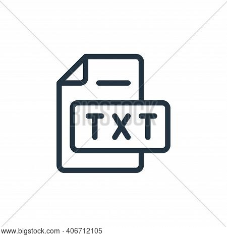 text file icon isolated on white background from online learning collection. text file icon thin lin