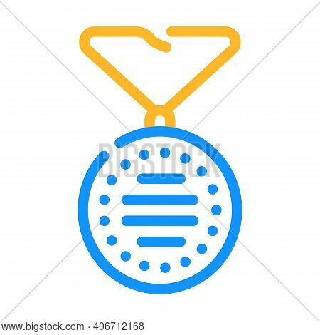 Wearing On Neck Or Keychain Air Filter Color Icon Vector Illustration