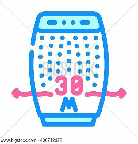 Radius Air Cleaning Color Icon Vector Illustration
