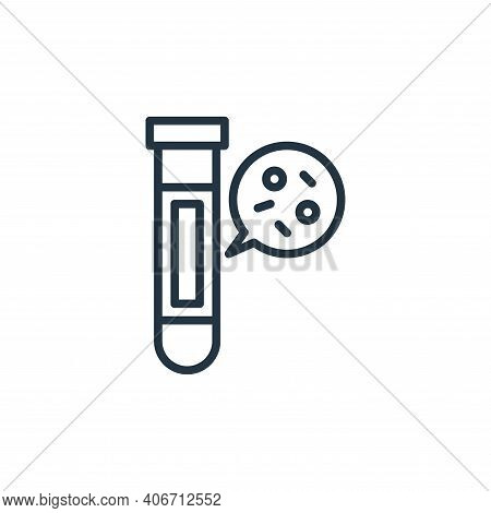 test tube icon isolated on white background from coronavirus collection. test tube icon thin line ou