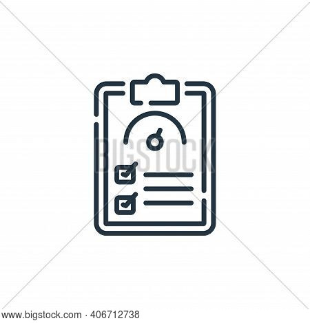 test icon isolated on white background from auto racing collection. test icon thin line outline line