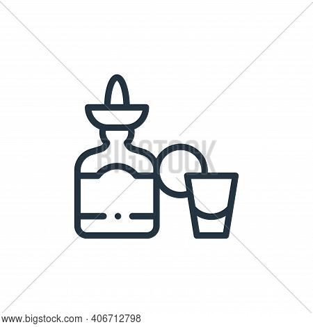 tequila icon isolated on white background from mexico collection. tequila icon thin line outline lin