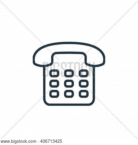 telephone icon isolated on white background from communication collection. telephone icon thin line