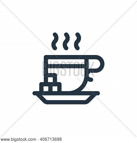 tea cup icon isolated on white background from europe collection. tea cup icon thin line outline lin