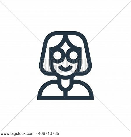 teacher icon isolated on white background from people collection. teacher icon thin line outline lin