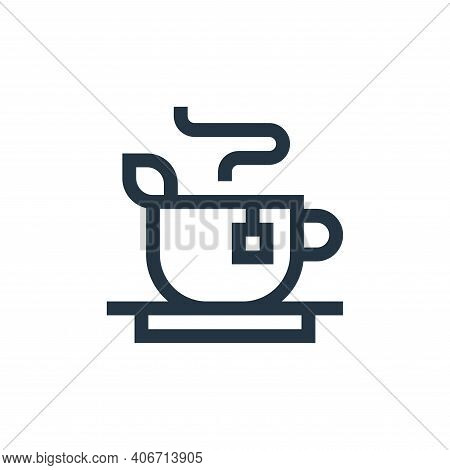 tea icon isolated on white background from vegan collection. tea icon thin line outline linear tea s