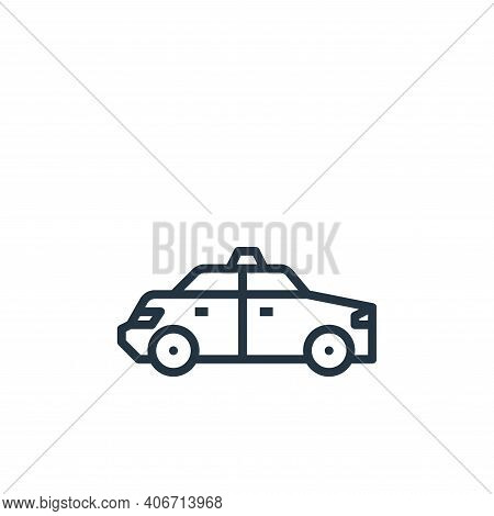 taxi icon isolated on white background from travel collection. taxi icon thin line outline linear ta