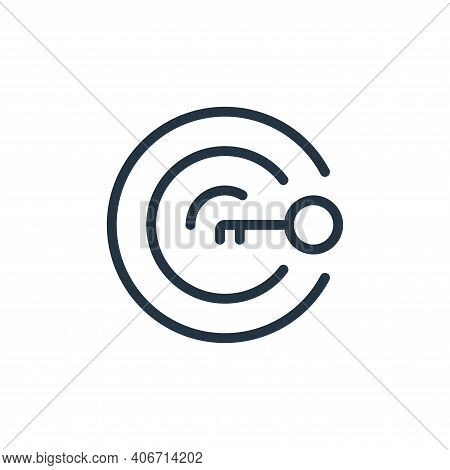 target icon isolated on white background from work office supply collection. target icon thin line o