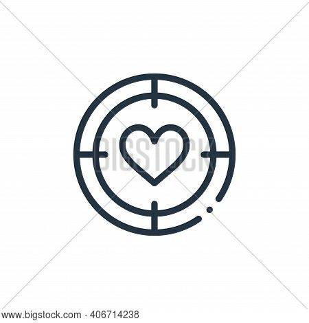 target icon isolated on white background from world love collection. target icon thin line outline l