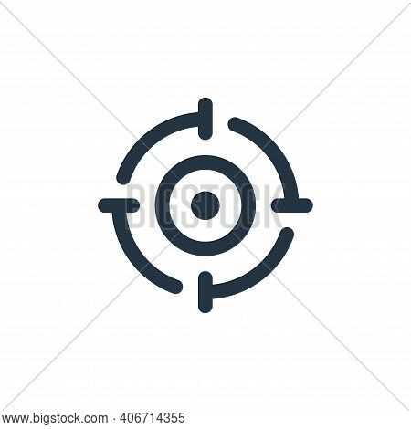 target icon isolated on white background from seo collection. target icon thin line outline linear t