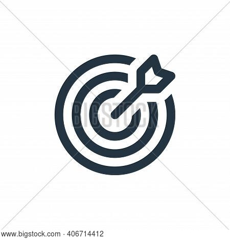 target icon isolated on white background from user interface collection. target icon thin line outli