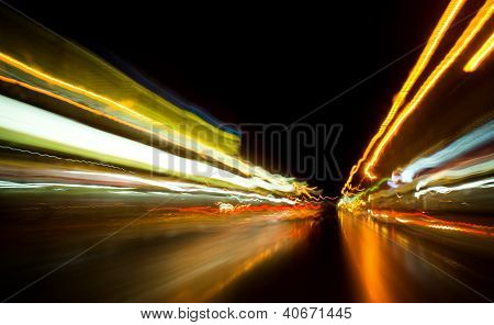 Abstract of light trail