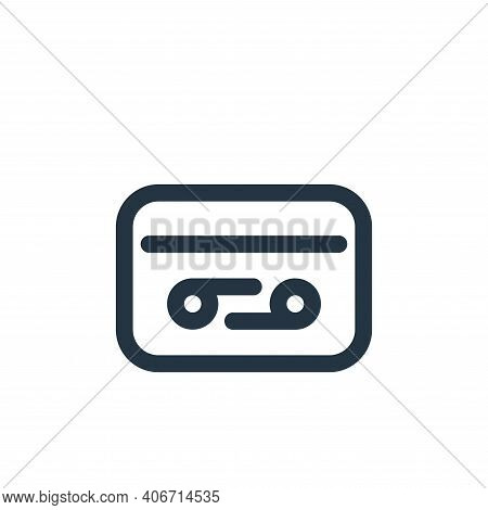 tape icon isolated on white background from video collection. tape icon thin line outline linear tap