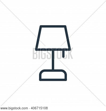 table lamp icon isolated on white background from work office supply collection. table lamp icon thi
