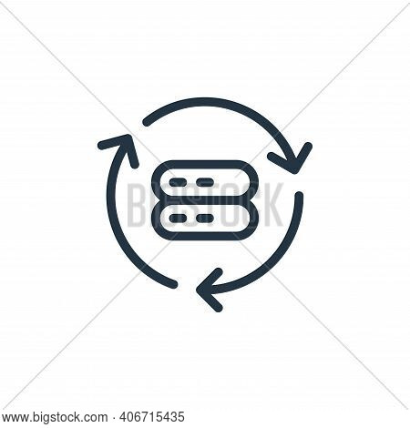 synchronization icon isolated on white background from data transfer collection. synchronization ico