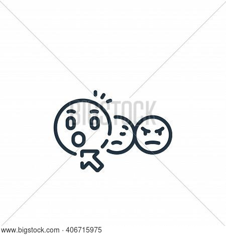 surprised icon isolated on white background from social media collection. surprised icon thin line o