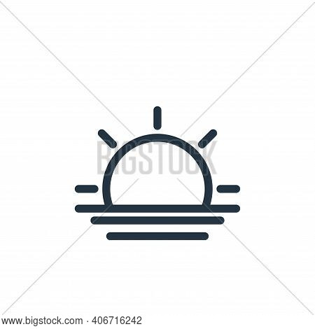 sunset icon isolated on white background from holiday collection. sunset icon thin line outline line