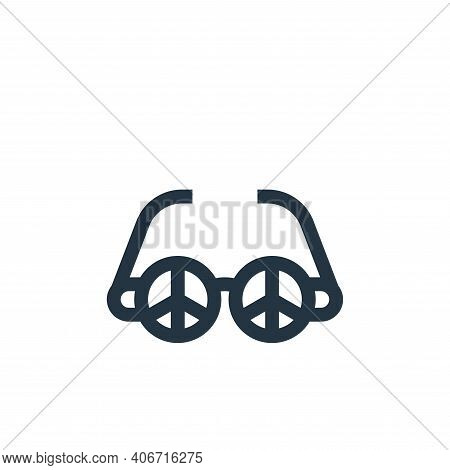 sunglasses icon isolated on white background from hippies collection. sunglasses icon thin line outl