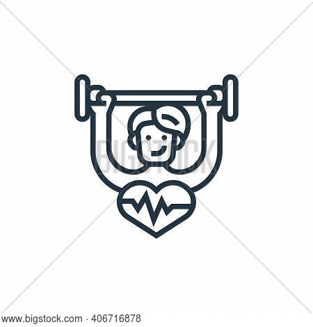 strong icon isolated on white background from fitness collection. strong icon thin line outline line