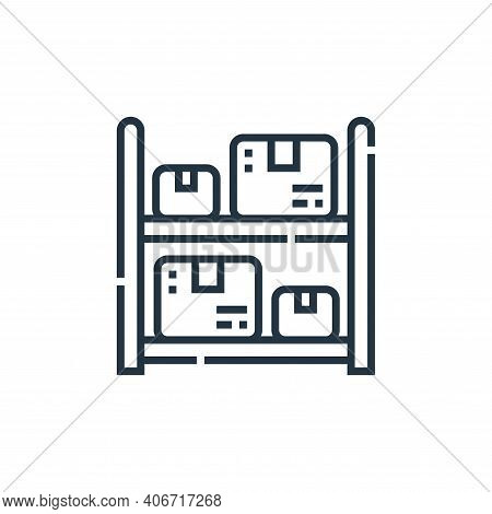 storage icon isolated on white background from delivery collection. storage icon thin line outline l