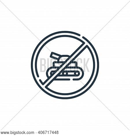 stop icon isolated on white background from hippies collection. stop icon thin line outline linear s