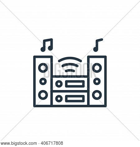 stereo icon isolated on white background from internet of things collection. stereo icon thin line o