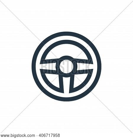 steering wheel icon isolated on white background from video game elements collection. steering wheel