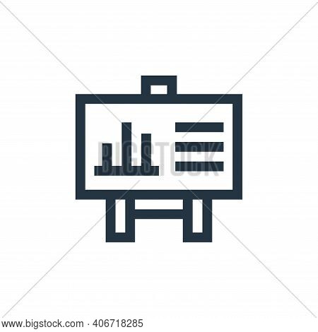 statistics icon isolated on white background from marketing and growth collection. statistics icon t