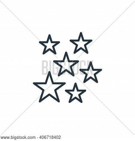 stars icon isolated on white background from space collection. stars icon thin line outline linear s