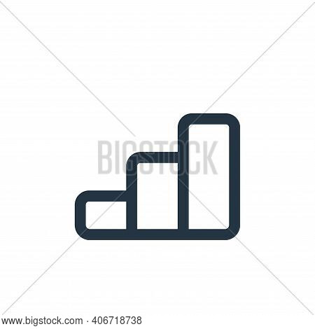 stairs icon isolated on white background from business collection. stairs icon thin line outline lin