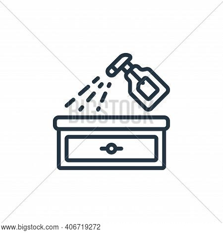 spray bottle icon isolated on white background from hygiene collection. spray bottle icon thin line