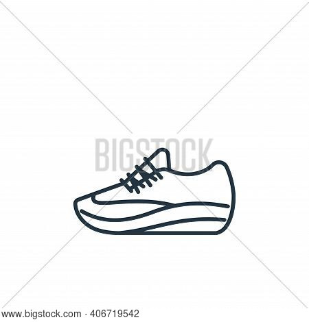 sport shoe icon isolated on white background from clothes and outfit collection. sport shoe icon thi