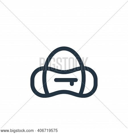 sport bag icon isolated on white background from pilates collection. sport bag icon thin line outlin