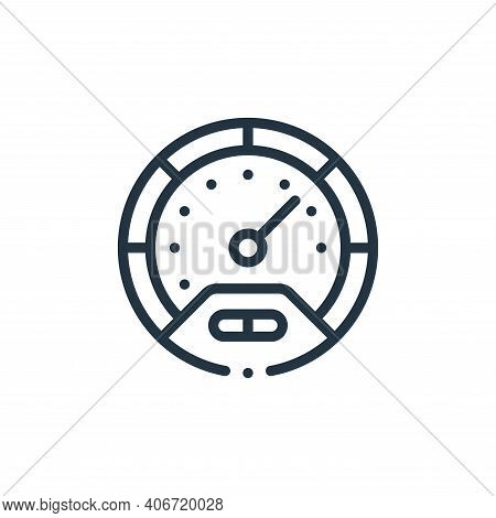 speedometer icon isolated on white background from autoracing collection. speedometer icon thin line