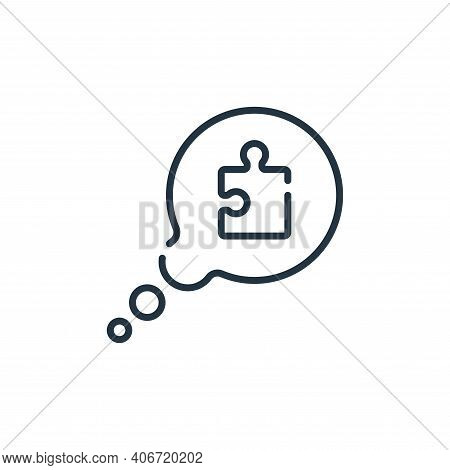 speech bubble icon isolated on white background from life skills collection. speech bubble icon thin