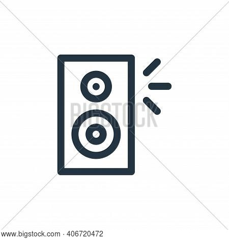 speaker icon isolated on white background from music collection. speaker icon thin line outline line