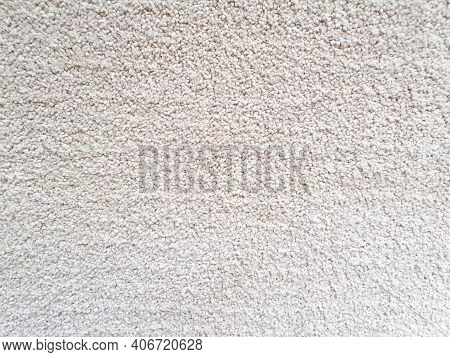 Gray Long Pile Carpet Texture Background. Polypropylene Long Pile Carpet, Close-up, Top View