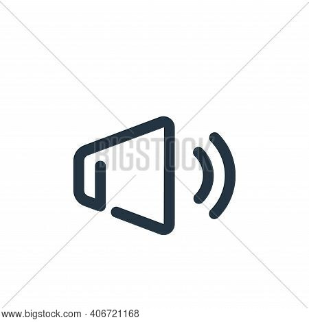 sound icon isolated on white background from user interface collection. sound icon thin line outline