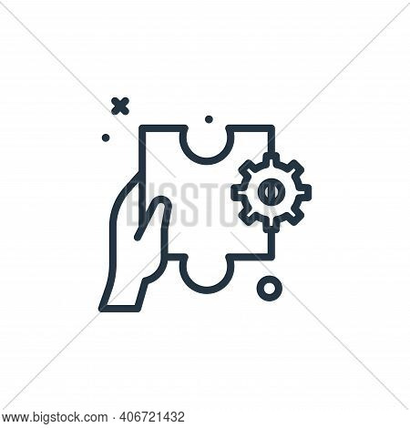 solution icon isolated on white background from work from home collection. solution icon thin line o
