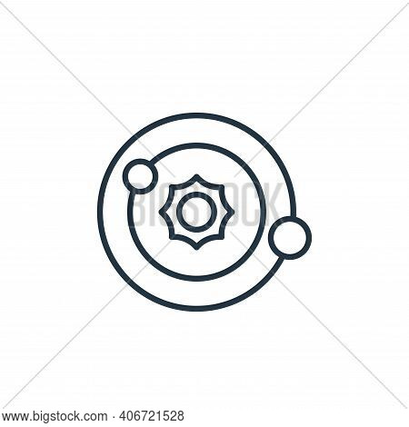 solar system icon isolated on white background from space collection. solar system icon thin line ou