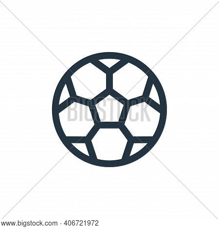 soccer ball icon isolated on white background from soccer collection. soccer ball icon thin line out