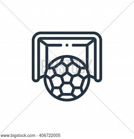 soccer icon isolated on white background from europe collection. soccer icon thin line outline linea
