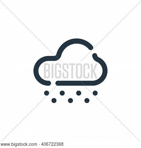 snowy icon isolated on white background from weather collection. snowy icon thin line outline linear