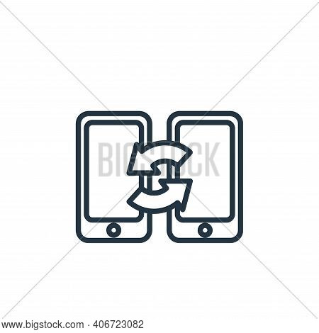 smartphones icon isolated on white background from communication collection. smartphones icon thin l