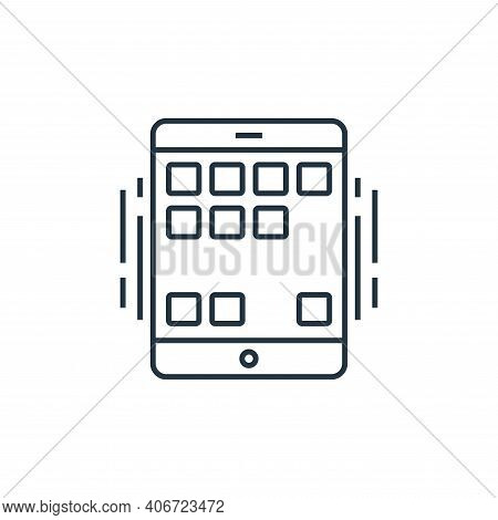 smartphone icon isolated on white background from technology devices collection. smartphone icon thi