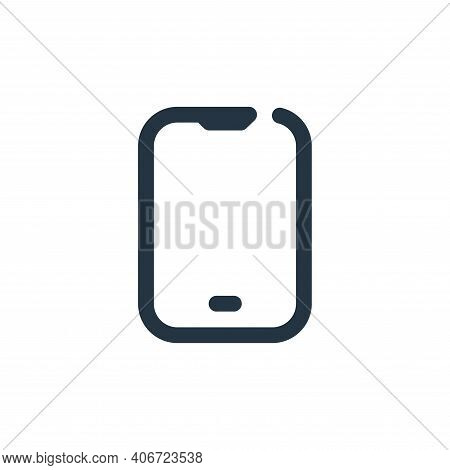 smartphone icon isolated on white background from multimedia collection. smartphone icon thin line o