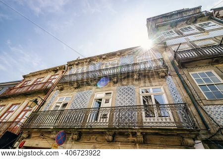 Traditional Tenement Houses In Porto, Portugal