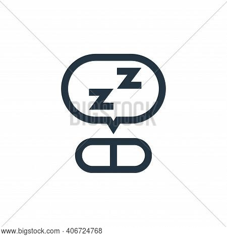 sleeping pills icon isolated on white background from pharmacy collection. sleeping pills icon thin